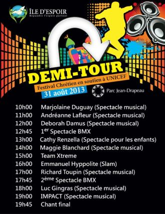 Programme Demi-tour 2013
